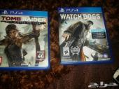 لعبتين ps4 بلاي ستيشن واتش دوقز و تومب رايدر watch dogs  tomb raider