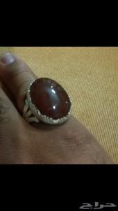 خاتم عقيق يمني فاخر اصلي صافي