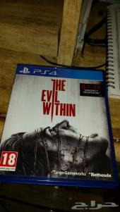 للبيع شريط لعبة الرعب  ps4 the evil with