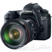 كاميرا كانون الإحترافية Canon EOS 6D DSLR Camera with 24-105mm f4L Lens