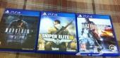 ps4 فقط ب 250  ( Sniper elite III - Battlefield 4 - Murdered )