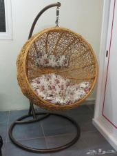 كرسي على شكل قفص مناسب للاستراحات