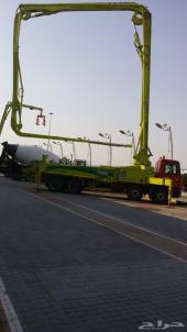 مضخة 43 متر  علي سيارة مرسيدس اكتروس  المضخة موديل 2015