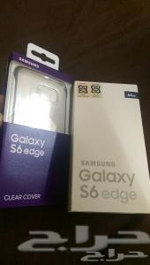 للبيع Galaxy s6 Edge اسود مع الكفر في جدة