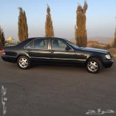 - Mercedes-Benz_ s لمحبي الشبح سيارة مرسيدس بنز نظيفه وعلى الشرط موديل 1997 لارج طويل مقاس 320 كحل
