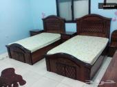 غرفة نوم نفرين للبيع - تصميم راقى وخشب ممتاز وقوى ولك حق الفحص