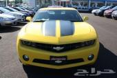 كومارو 2011 ار اس صفره للبيع -) Chevrolet Camaro 2011 RS yellow for sale