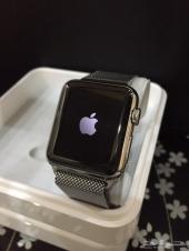 ساعة أبل 38 ستانليستيل جديدة- Apple wtach 38mm stainless steel