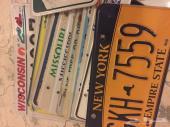 لوحات سيارات امريكيه للبيع