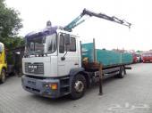 شاحنة مان مع ونش - MAN ME 18.280 TIRRE 8 TM - موديل 2005