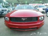 فورد موستنج 2009 أحمر داخلي بيج 6 سلندر بطاقة جمركية