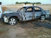 فورد فكتوريا 98 مصدوم ومحترق بالكامل للبيع تشليح