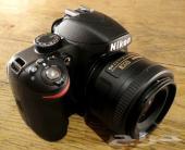 نيكون d3200 استخدام اسبوع مع عدسة عزل 50mm