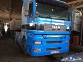شاحنة مان مع سطحة للبيع موديل 2004 ست رؤوس منفصلة حجم 410