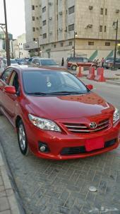 كورولا 2013 اللون أحمر للبدل بسيارة مناسبة