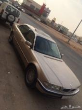 BMW مديل 98 اللون ذهبي موتر شبه مخزن