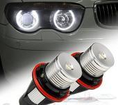 لمبات أمامية بيضاء (حلقات) BMW Angel Eyes عالية الجودة 2001-2008