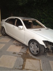 مرسيدس بانوراما s600 2006 تشليح للبيع ماشي 9 الاف