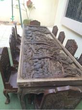 طاولة سفرة أنتيك خشب هندي محفور