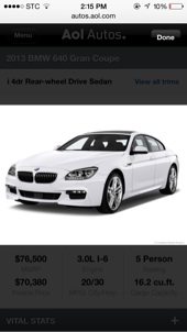 للبيع  -BMW  2013 640كت m5   سبورت ضمان الناغي لمدة 5 سنوات