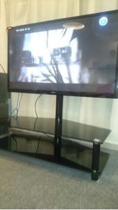 البيع طاولة قزاز مع عامود حامل للشاشة