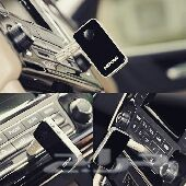(لا أسلاك بعد الان )قطعة ل AUX تربط صوت الجوال بالسياره عن طريق البلوتوث من دون أسلاك