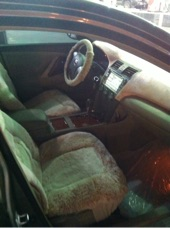 سيارة كامري جي ال اكس نظيفة على الفحص